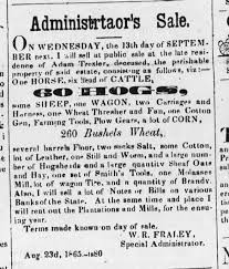 Adam Trexler (Murdered) Plantation for Sale - Newspapers.com