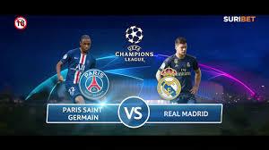 Uefa Champions League: Paris Saint Germain vs Real Madrid - YouTube