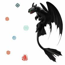 Room Mates The Hidden World Toothless Peel And Stick Giant Wall Decals Wayfair