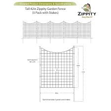 Zippity Outdoor Products 3 5 Ft H X 3 Ft W Garden Fence Panel Reviews Wayfair