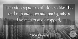 cesare pavese the closing years of life are like the end of a