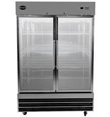 saba air stainless steel 2 glass door