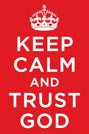 Keep Calm and Trust God Christian Poster