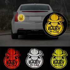1pc Personality Reflective Baby On Board Baby In Car Window Bumper Sticker Vinyl Decal Cute Sign Car Stickers Aliexpress