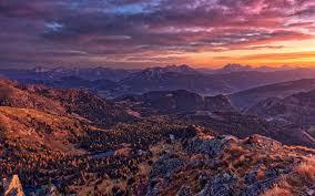 تحميل خلفيات جبال الألب غروب الشمس المناظر الطبيعية الجبلية جبل