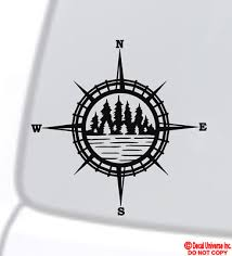 Compass Vinyl Decal Sticker Car Boat Truck Jeep Window Wall Off Road Atv Camping 3 48 Picclick