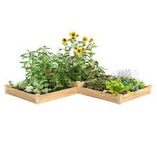 Greenes Fence 4 Ft X 12 Ft Two Tiers Original Cedar Raised Garden Bed Rc4t4s24b The Home Depot