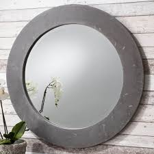 round wall mirror chilson grey
