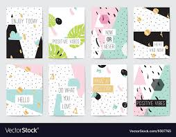 set of cards inspirational quotes royalty vector