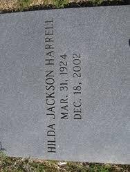 Hilda Jackson Harrell (1924-2002) - Find A Grave Memorial
