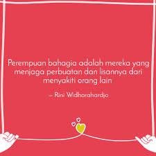 perempuan bahagia adalah quotes writings by rini