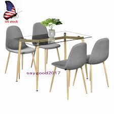 110cm tempered glass dining table with