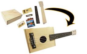box ukulele kit includes cigar box