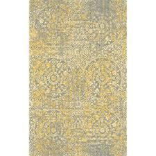 bungalow rose medlin gold gray area rug