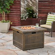 backyard propane cast iron fire pit