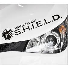 Car Stickers Agents Of Shield Avengers Decals For Rearview Mirrors Auto Styling Cyter Waterproof Black And White Car Stickers Aliexpress