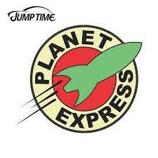 Jump Time 13cm X 13cm For Futurama Planet Express Logo Vinyl Sticker Car Truck Window Decal Jdm Wall Bumper Car Accessories Car Stickers Aliexpress