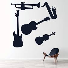 Musical Instruments Guitar Trumpet Wall Decal Sticker Set Ws 33288 Ebay