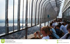 Empire State Building Observation Deck Editorial Image Image Of Tower Building 17953795