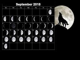 Full Moon Calendar September 2018 ...