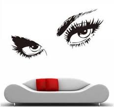Eyelashes Wall Decal Wall Decals Decal Wall Art Lashes