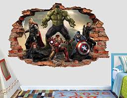 Avengers Room Decor Wall Decals Curtains Lamps