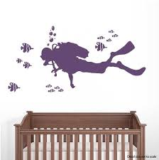 Scuba Diver Wall Decal Scuba Diver Wall Sticker Wallums