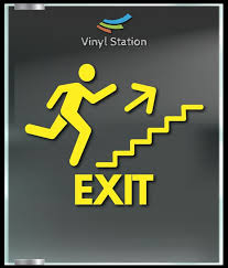Sticker Decal Exit For Emergency Use Only Business Store Etsy