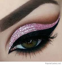 amazing light pink glitter eye makeup