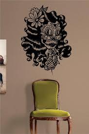 Day Of The Dead Girl Version 3 Skull Art Decal Sticker Wall Vinyl Boop Decals