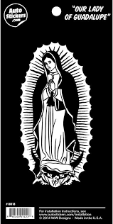 Amazon Com Our Lady Of Guadalupe 5 5 Vinyl Car Sticker Decal Automotive