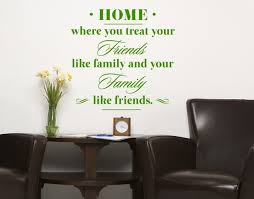 Home Friend And Family Wall Decal Quotes Sticker Mural Vinyl Art Home Decor Contemporary Wall Decals By Style And Apply