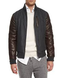 mixed media wool er jacket