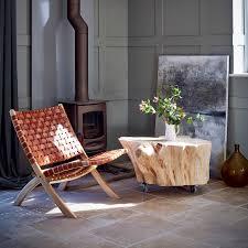 teak folding occasional chair