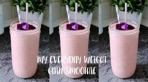 my everyday weight gain smoothie