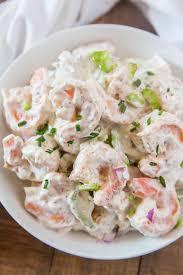 Creamy Shrimp Salad - Dinner, then Dessert