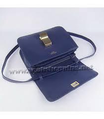 celine messenger bag dark blue leather