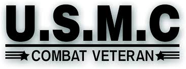 Amazon Com Solar Graphics Usa Combat Veteran U S M C Decal For Military Marine War Vet Windshield Or Car Bumper Sticker Single 3 1 2 X 10 Inch Black Automotive