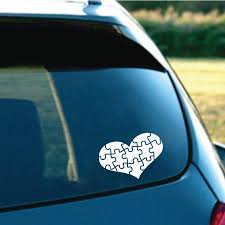 Autism Puzzle Heart Decal Different Not Less