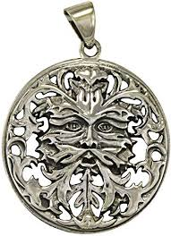 celtic green man greenman pendant
