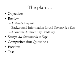 ppt all summer in a day powerpoint