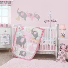 bedtime originals eloise pink gray