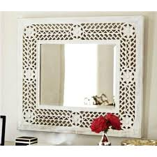 white wooden mirror frame at rs 750