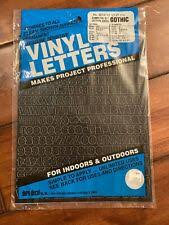 Gothic White Adhesive Vinyl Letters And Numbers 2 For Sale Online Ebay