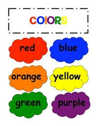 Clipart Colors Word