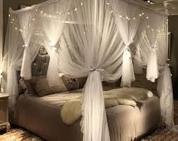 Bed Canopy With Lights Etsy