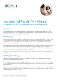 Nielsen: UK Incremental Reach: TV + Online Fusing BARB and UKOM data …