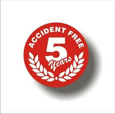 Safety Decal Hard Hat 5 Years Accident Free Employee Sticker Set Of 7 Ebay
