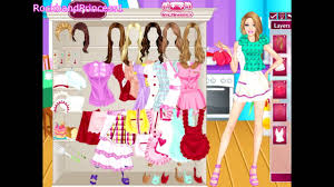 barbie dress up makeup and cooking