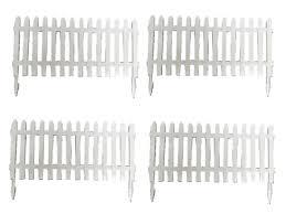 Plastic Picket Fence Panels X4 White Decoration Miniature Garden Decoration Decoration Fence Ga In 2020 Plastic Picket Fence Picket Fence Panels Picket Fence